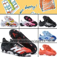 Wholesale leather quality football shoes for sale - Group buy Predator Mutator FG Mens Low Soccer Boots Football Shoes Top Quality Outdoor Firm Ground Leather Trainers Spikes Soccer Cleats