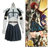 Wholesale fairy tail erza scarlet cosplay resale online - Fairy Tail Dragon Cry Erza Scarlet Outfit Uniform Cosplay Costume