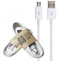 micro cables de cargador al por mayor-10 unids / lote cargador de velocidad rápida Cable de carga para Samsung s6 s7 Cable de carga Cable de sincronización de datos