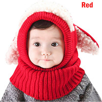 Wholesale smart scarf for sale - Group buy Drop shipping HEFLASHOR Winter Baby Unisex Warm Puppy Cloak Scarf Shawl Infant Skull Caps Smart Hat Siamese wool