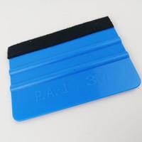 vinil móvel venda por atacado-Ferramentas de embrulhar em película de vinil carro 3 m rodo com feltro macio raspador de papel de parede protetor de tela móvel instalar rodo ferramentas raspadores
