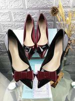 ingrosso scarpe qiu-Design - la nuova scarpa da donna in qiu dong in pelle verniciata è costosa scarpa da donna temperamento bowknot 6 cm
