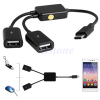 Wholesale usb otg power for sale – best 2018 in USB Type C To Micro USB Power Charging Host OTG Hub Cable Adapter