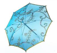 handgemachte spitze freies verschiffen großhandel-Großhandelskinder tanzen Regenschirmhandwerkregenschirmstickereispitzeleistungsregenschirmdurchmesser 26cm 52cm 82cm Mischungsfarben A236 freies Verschiffen