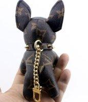 anahtar zincir dekorasyon toptan satış-Ücretsiz Kargo Moda anahtarlık ile 2019 yeni köpek yüksek kalite zincir çanta dekorasyon Anahtarlıklar 2019 torba zincir wihtout kutusu