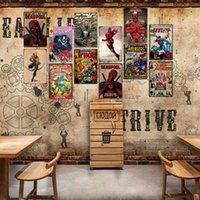 artisanat pour enfants achat en gros de-Super-héros Rétro Tin Signe Wolverine Capitaine Amérique Batman Bande Dessinée Mur Décor En Métal Artisanat Peinture Plaques Art Affiche Enfants Chambre Décoration