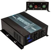 inversor de onda pura al por mayor-Inversor de potencia 1500W 12/24 / 48V a 120 / 220V Inversor de onda sinusoidal pura Ejecutar refrigerador Coche Envío gratis