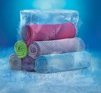 toalhas compressas mágicas gratuitas venda por atacado-30 * toalha 90 centímetros de gelo FFA3969 esporte absorção de suor aptidão exercício arrefecimento toalha verão outdoot legal toalha refrigerador partido presente