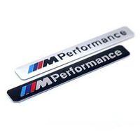 ingrosso adesivi di prestazione-/// M Performance Car Sticker Alluminio M potenza prestazioni Motorsport Metal Badge per BMW E34 E36 E39 E53 E60 E90 F10 GGA1738