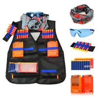 accessoires de gilet tactique achat en gros de-Kit de gilet tactique pour enfants simuler des accessoires de jeu en plein air pour les pistolets Nerf N-Strike Elite Series