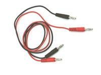 conector banana macho de 4 mm al por mayor-50pcs 80CM Cable de silicona de alto voltaje 4MM Banana a 4MM Banana Macho Macho