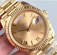 ingrosso specchio fibbia-Hot Men Luxury Watch 18K Gold Watch 40MM Sapphire Mirror 228238 Series Movimento automatico di alta qualità Fibbia pieghevole originale Acciaio inossidabile