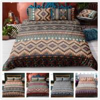 hermosa cama queen al por mayor-Simple Beautiful Bedding Set 2/3 pcs para textiles para el hogar Twin Queen king Size Duvet Cover Set Conjunto de estilo indio