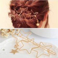 ingrosso stelle dei capelli accessori-Le donne le signore popolari Hollow Star nappa tornante Hairpin Hair Clip più nuovi accessori di alta qualità Accessori per la cura dei capelli Strumenti per lo styling