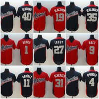 Wholesale baseball jerseys stars for sale - Group buy 31 Max Scherzer All Star Game Baseball Jersey Justin Verlander Charlie Blackmon Trout Luis Severino11 Jose Ramirez