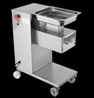 dikey tip toptan satış-Toptan Satış - ücretsiz gönderim 110v / 220v dikey tip et kesme makinası et kesici dilimleyici 500kg / saat et işleme makinası