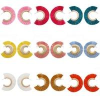 geometrische kostüme großhandel-OUMEILY Quaste Ohrringe für Mädchen Geometrische Aussage Mode Frau Ohrringe Tropfen Baumeln Ohrring Hängen Kostüm Böhmen