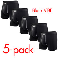 hommes sexy lycra rose achat en gros de-SAXX VIBE Sous-vêtements pour hommes modernes Fit Boxer 5-pack ~ SANS BOX (Taille Amérique du Nord)