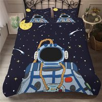Wholesale 3d bedding set for adults for sale - Group buy A Bedding Set D Printed Duvet Cover Bed Set Space astronaut Home Textiles for Adults Bedclothes with Pillowcase ETTK02