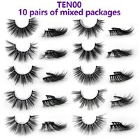 Wholesale different eyelash extensions resale online - 10 pairs of different D Faux Mink Hair False Eyelashes Natural Thick Long Eye Lashes Wispy Makeup Beauty Extension makeup