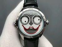 relógios russos venda por atacado-Top Mens Watch 42mm Edição Konstantin Chaykin Joker Aço Caso Verde Inner Joker Dial Tempo Russo NH35A Automático de Couro relógios de Pulso