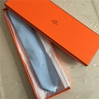 iplik bağları toptan satış-7.0 cm ipek bağları yüksek kaliteli ipliği boyalı ipek kravat marka erkek iş kravat çizgili kravat hediye kutusu