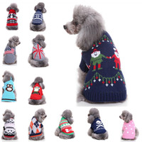 Wholesale reindeers costume for sale - Group buy Reindeer Dog Christmas Halloween Party Clothes New Arrival Knitted Puppy Pet Cat Costumes Snowflake Outerwears Coat Sweater Clothes Style