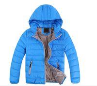 ingrosso ragazze abiti caldi-Capispalla per bambini di trasporto libero Ragazzo e ragazza inverno caldo cappotto con cappuccio bambini vestiti ragazzo giubbotto bambino giacche 3-12 anni
