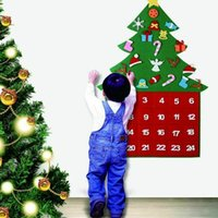 Wholesale fibre decor for sale - Group buy Christmas Advent Calendar Panels Set Felt Fabric Tree Calendar Xmas Home Decor