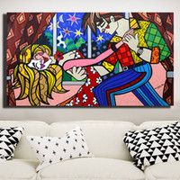 Wholesale original digital art for sale - Star Night Poster Romero Dancing Original Acrylic Canvas Posters Prints Wall Art Painting Decorative Picture Modern Home Decoration