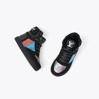 basketbol ayakkabıları orijinal toptan satış-kız ayakkabı siyah basketbol hakiki deri vamp çocuk ayakkabı ucuz atletik ayakkabılar kutu eu26-35 kahverengi renk çocuk basketbol ayakkabısı send sneakers