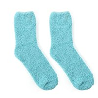 Wholesale womens warm socks resale online - Casual Fuzzy Thick Warm Floor Socks Womens Girl Candy Colors Slipper Sock Ladies Fuzzy Solid Soft Warm Floor Hosiery Accessories C18122201