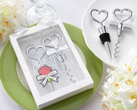 Wholesale wedding favors wine set for sale - Group buy Cheers to a Great Combination Wine Set Wine Corkscrew and Stopper Wedding Gift Party Favors WB1181