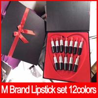 Wholesale lustre lipstick rouge levres for sale - Group buy 2018 newest M brand Matte Lipstick sets Lustre Lipstick rouge a levres Love Lip stick set Matte Chili