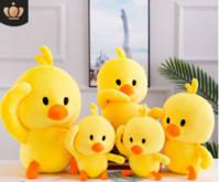 peluche pato amarillo al por mayor-Nueva red red tiemble baby yellow duck duck pillow plush toy chicken doll doll