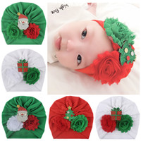 Wholesale baby boy flat hats for sale - Group buy Christmas Baby Cap Cartoon Cotton Cloth Children Knot Turban kids Toddler stretch Hat Head Wrap India style Toddler Baby Girl Knot Headbands