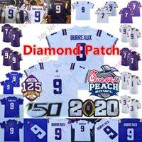 Wholesale lsu youth jersey for sale - Group buy Custom Diamond Patch LSU Tigers College Football Jersey Joe Burrow Burreaux Heisman Thaddeus Moss Jefferson Chase Delpit Men Women Youth