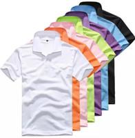 erkekler için beyaz polo gömlekler toptan satış-Yeni Marka Erkekler küçük At timsah Nakış POLO Gömlek Markalar Pamuk Kısa Kollu lüks Polo Beyaz Yaka Erkek Yüksek Kalite Polo Gömlek