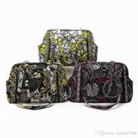 Wholesale light diaper bag for sale - Group buy VB baby diaper bag Flower Shoulder Bag Purse Handbag Tote bag