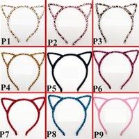 bebek kızları için baş bantları toptan satış-Kore Moda sevimli Kedi kulaklar Çocuk Saç Sopa Bebek Bantlar Kızlar kafa bantları bebek kız bantlar çocuklar Saç Aksesuarı C2