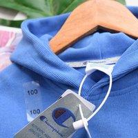 chicas calientes leggings azules al por mayor-2019 bebé niñas chándal de marca caliente de la venta de otoño invierno de la moda con capucha pantalón azul abrigo de niña juego de ropa chándal niños chicos polainas