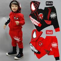 5d898a9b9e6d9 Зима Детская одежда мальчик набор Marvel Comic Человек-Паук Хэллоуин костюм  спортивный костюм 2 шт. мальчиков одежда наборы пальто + брюки 3-7 лет