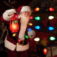 festival birnen lichter großhandel-Weihnachten spezielle LED-Licht-emittierende Halskette Festival-Atmosphäre Rendering Requisiten Serie Glühbirne KTV Partei blinken Requisiten T3I5325