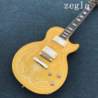 Wholesale guitar customs for sale - Hot sale custom shop Goldtop beautiful lines electric guitar Rosewood fretboard Chrome hardware