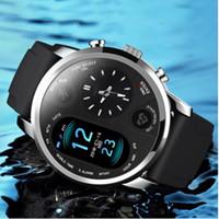 relógios femininos venda por atacado-Dual Display Relógio Inteligente Homens IP67 À Prova D 'Água Pressão Arterial Mensagem de Pressão Arterial Push Smartwatch Mulheres Em Espera 15 Dias