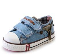 Wholesale denim korean canvas shoes resale online - Children Casual Shoes Autumn Child Korean SneakersBaby Canvas Shoes Fashion Kids Sport Shoes Baby Denim Boots