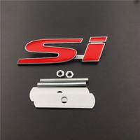 ingrosso 3d adesivo auto cromato-Sostituito Auto Auto 3D Chrome in lega di zinco SI griglia emblema distintivo per auto Audi Grille