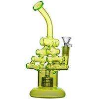 geri dönüşüm cihazı 25cm toptan satış-Klein Recycler bong Benzersiz Bong Su Boruları Sigara Boru Kalın Cam Dab Kuleleri 25 cm boyunda Nargile Nargile