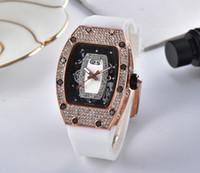 ingrosso bianca orologi ragazza-Luxury Girls H-M Orologi per orologi da donna Fashion Watch Bianco Nero Rosso Viola con alta qualità