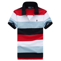 camisas de calidad para hombre de negocios al por mayor-19ss nuevos mens Polo Ralph polos camiseta Lauren solapa algodón Paul negocio Pony marca polos de manga corta camisetas de calidad superior de la novedad S-XXL caliente